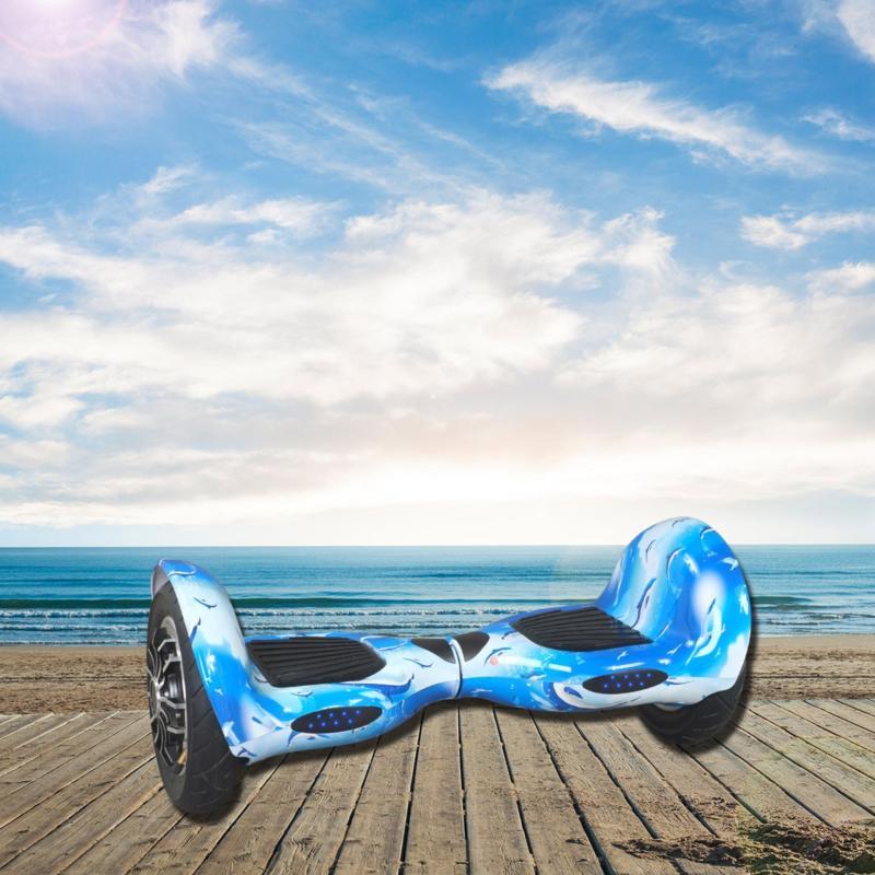 Phân phối Xe điện tự cân bằng Bluetooth 10 inch xanh dương