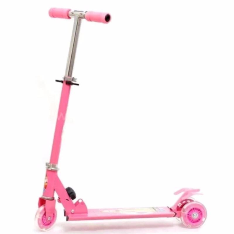 Mua Xe trượt Scooter chòi chân có bánh phát sáng (Hồng)