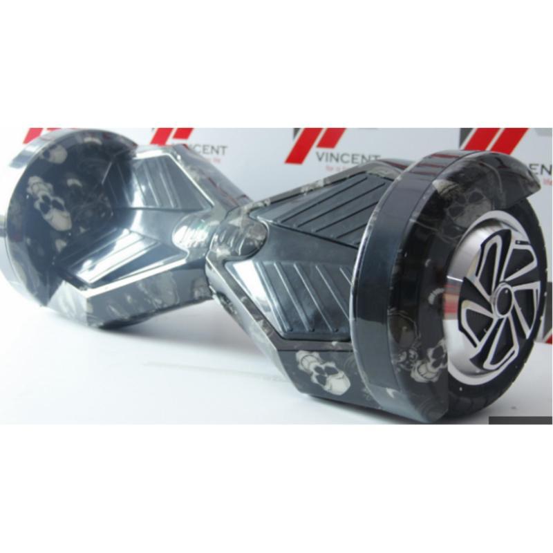 Mua Xe tự cân bằng 8 inch bản cao cấp đen xanh đầu lâu -AL