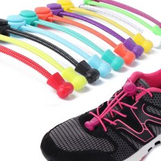 1 Pair Newest Women Lady Men Elastic No Tie Locking Trainer Running Athletic Sneaks Shoe Laces (ColorᆪᄎPink) - intl