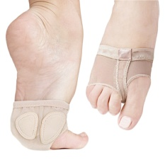 Adult Kid Girls Breathable Foot Thongs Ballet Dance Toe Pad Socks Forefoot Cushion for Relieve Foot Pains Size M - intl