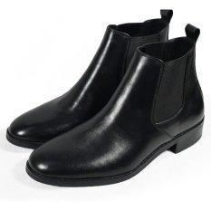 Boots cổ lửng phối thun Tathanium Footwear TFBKU8812