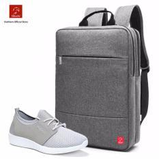 Combo Balo Thời Trang Glado BLC010GR+ Giày Sneaker GZ002 (Xám) - CB043