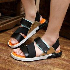 Dép lê nam Giày mùa hè Giày dép giản dị Giày dép Beach Mens Flat Sandals Summer Shoes Casual Shoes Beach Shoes - intl