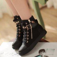 Giày boot dáng thể thao cao cấp - B002D (đen)