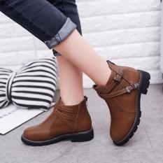 Giày Boot Nữ Da Khóa Kéo Sau Msp 2755 (Đen)