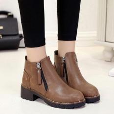Giày Boot Nữ Khoá Kéo MSP 2458 (Đen)