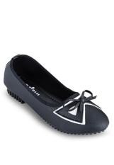 Giày búp bê đính nơ nữ Sarisiu SRS807 (Đen)