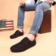 Giày Lười Dây Cột Zapas Vải Nhung - GC007 (Màu Đen)