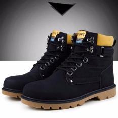 Giày nam cổ cao sành điệu ZANI SM9602B- Đen