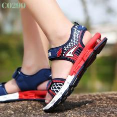 Giày sandal bé trai lò xo cực êm - đỏ