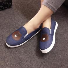Giày Slip On Bé Gái CS1408 (Xanh Đen)