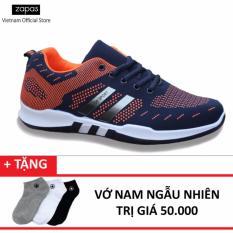 Giày Sneaker Thời Trang Nam Zapas - GS053 ( Xanh Cam ) + Tặng Vớ Nam Ngẫu Nhiên