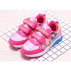 Giày thể thao bé gái in hình 3D công chúa 6-12 tuổi