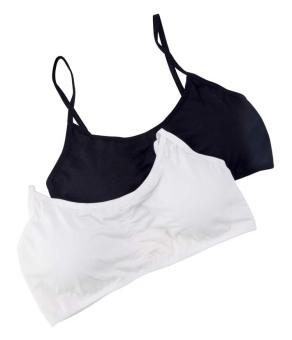 Bộ 2 áo lót bra quai bướm có đệm pha ren sexy GT 247 (Đen+Trắng)