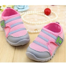 New Arrival Children Shoes Soft Bottom For Little Kids Boys & Girls Mesh Sports Sneakers (EU SIZE 17-22 /Pink) - intl
