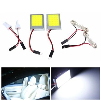 4Set T10 Dome BA9S Festoon Car COB 24 LED Light DC12V White - intl