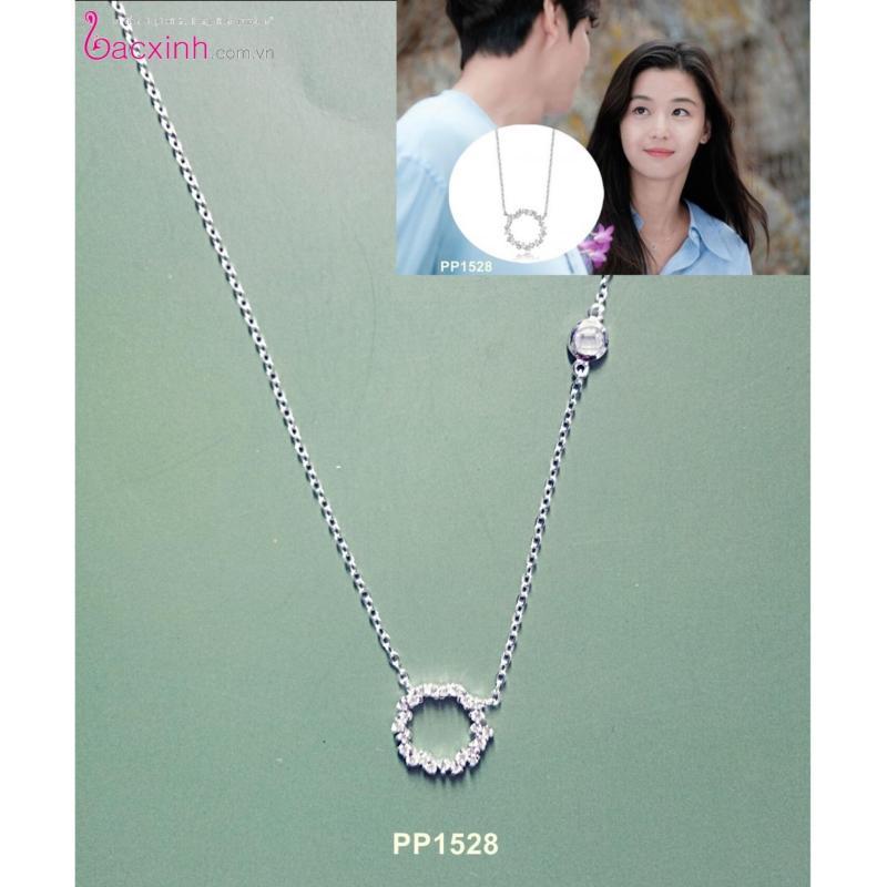 Bộ dây chuyền liền mặt trang sức bạc Ý S925 Bạc Xinh - Huyền thoại biển xanh PP1528