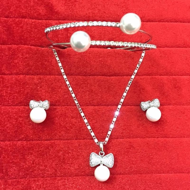 Bộ trang sức bạc cao cấp đính ngọc NT10a