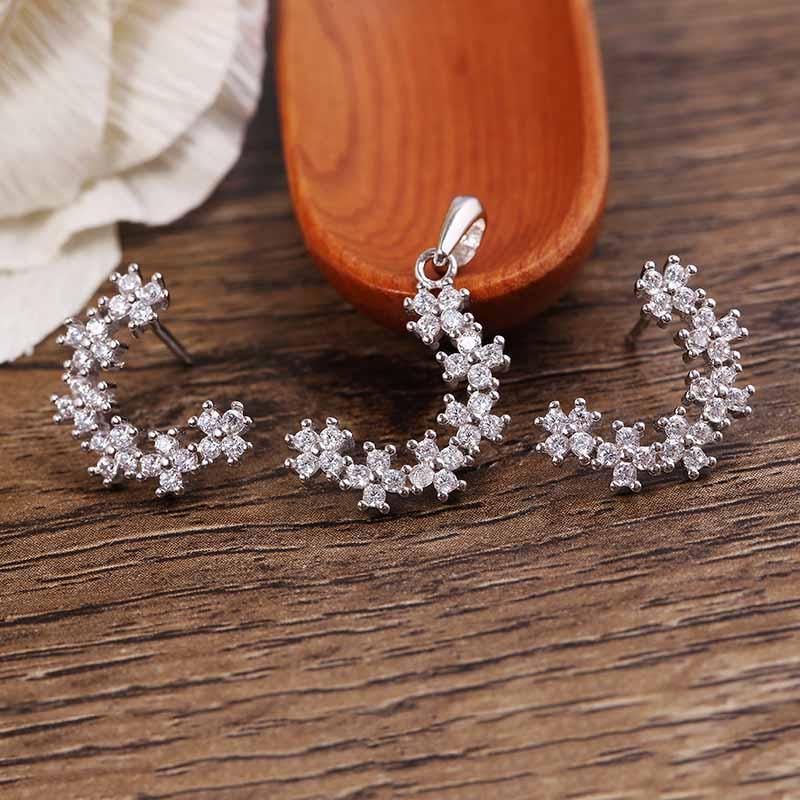 Bộ trang sức bạc Drusilla Love | Eropi