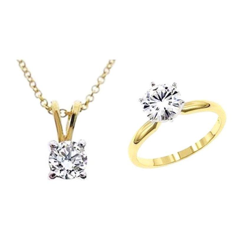 Bộ trang sức bạc mạ vàng - BTS01