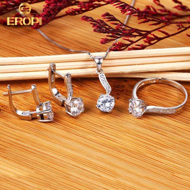 Bộ trang sức bạc Sophia Love - Eropi Jewelry