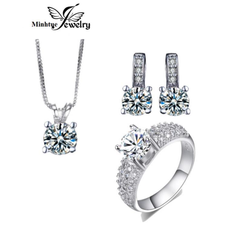 Bộ trang sức cao cấp hợp kim, bạc 925 cao cấp xi bạch kim sbt04b