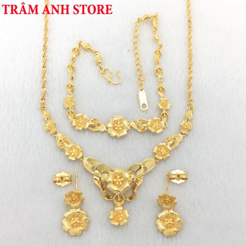 Bộ Trang Sức Nữ Mạ Vàng 24k Cao Cấp - BTS136L28