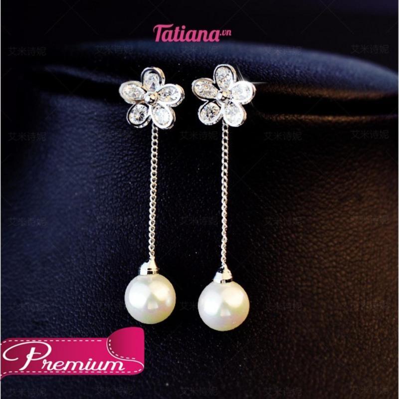 Bông Tai Floral Crystal - Tatiana - B1052
