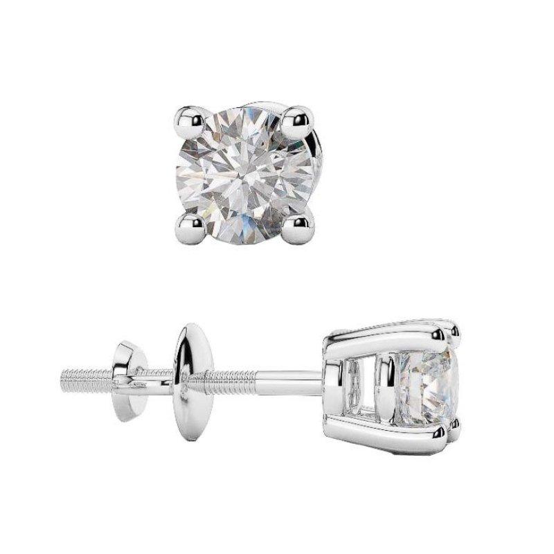 Bông tai nữ đá kim cương nhân tạo - BONG002