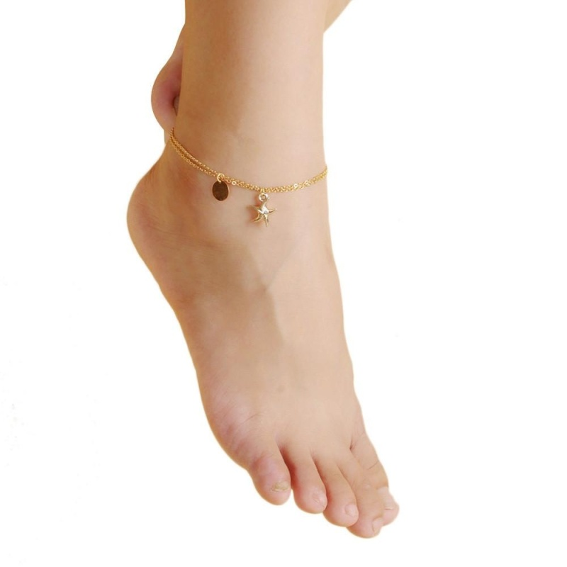 Chain Anklet Foot Beach Sandal Barefoot Jewelry - intl