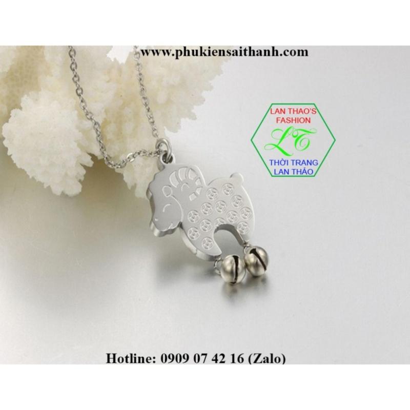 Dây chuyền Titan Cừu baby siêu dễ thương  DC584-1 (TRẮNG)
