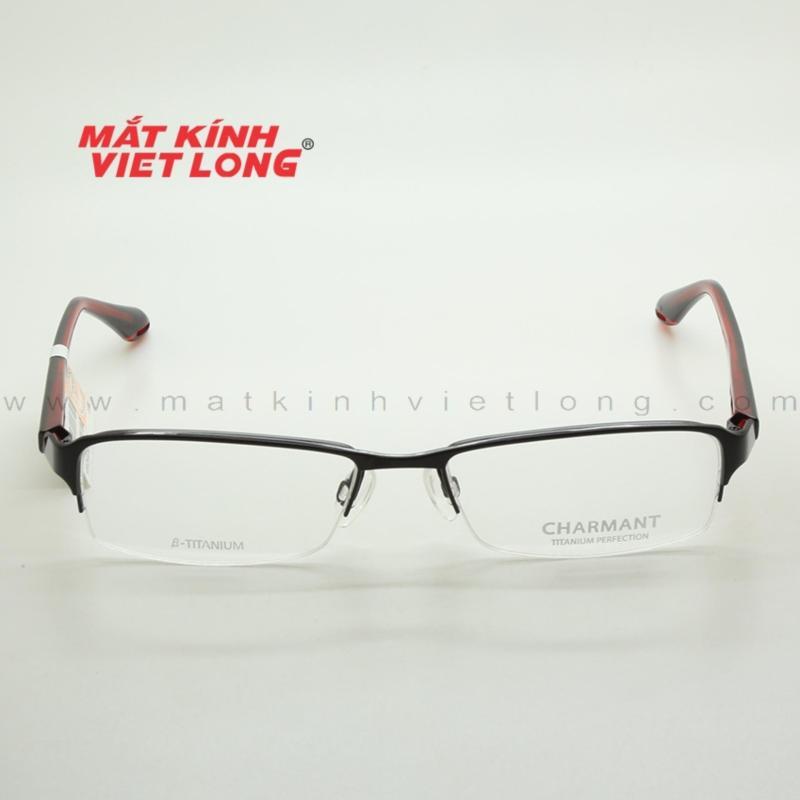 Mua Gọng kính Charmant CH10238-BK 54-17 (Gọng xẻ cước kim loại màu đen phối đỏ)