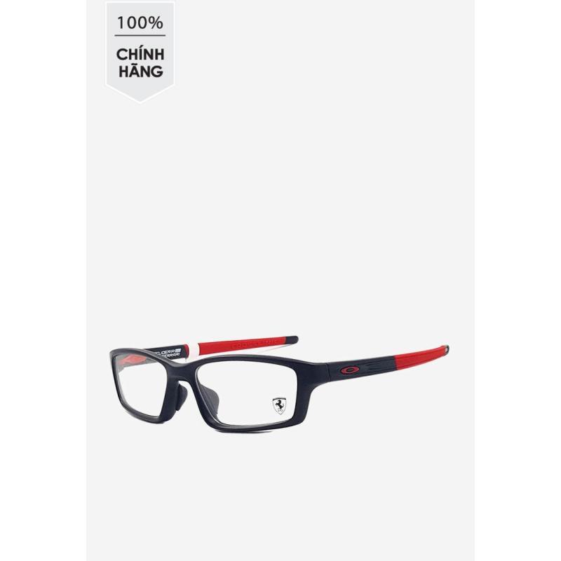 Giá bán Gọng kính Oakley chữ nhật màu đen phối đỏ OX 8041 0956