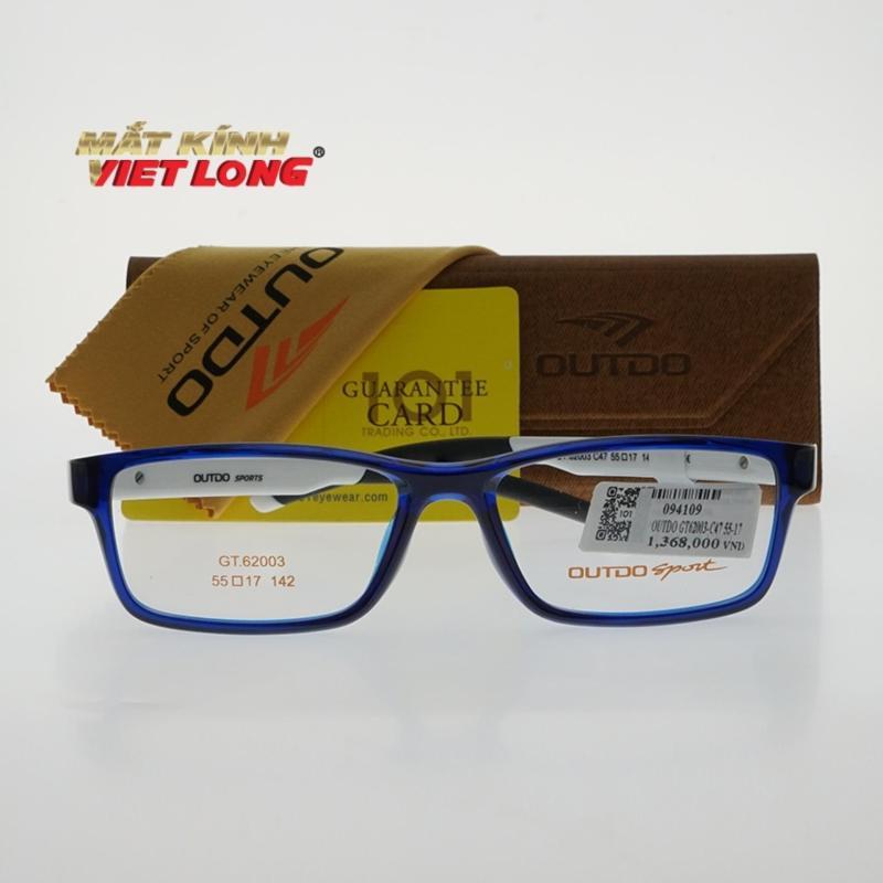 Mua Gọng kính Outdo GT62003-C47 55-17 (Gọng nhựa khung xanh dương, càng trắng pha đen)