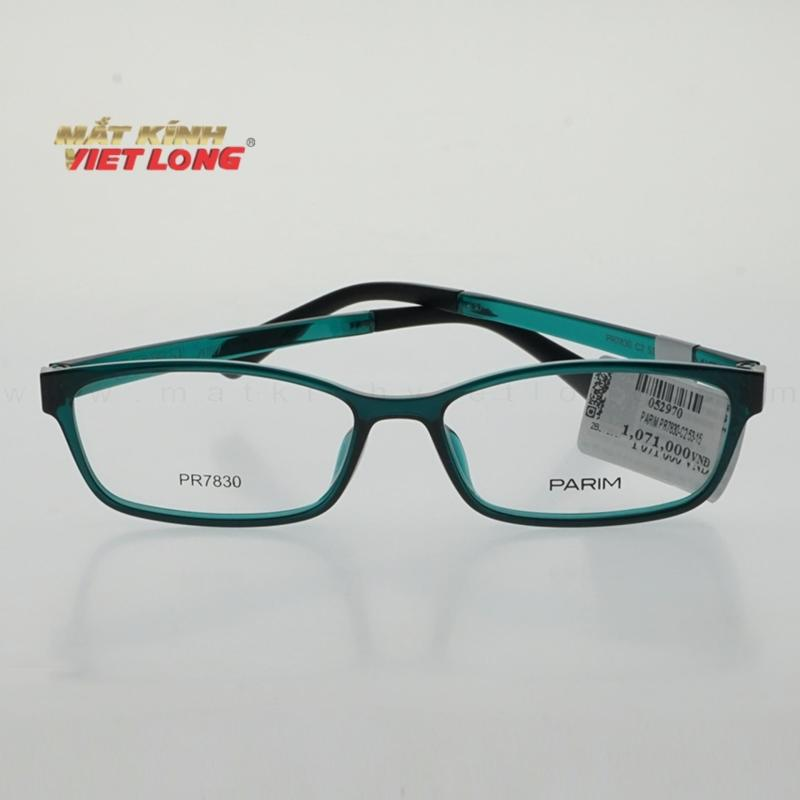 Giá bán Gọng kính Parim PR7830-C2 53-15 (Gọng nhựa màu xanh trong)