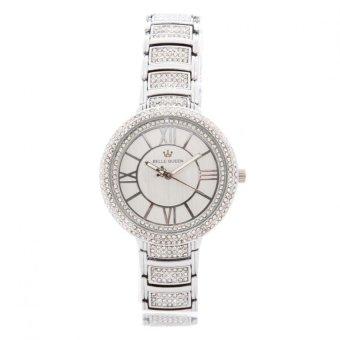 Đồng hồ kim nữ dây thép không gỉ đính đá Cristian Lay Belle Queen 20665 (Bạc)