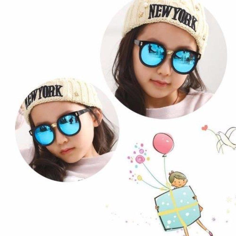 Giá bán Kính mát cho bé chống tia UV phong cách Hàn Quốc 2016 Korea kids C653 (Xanh)