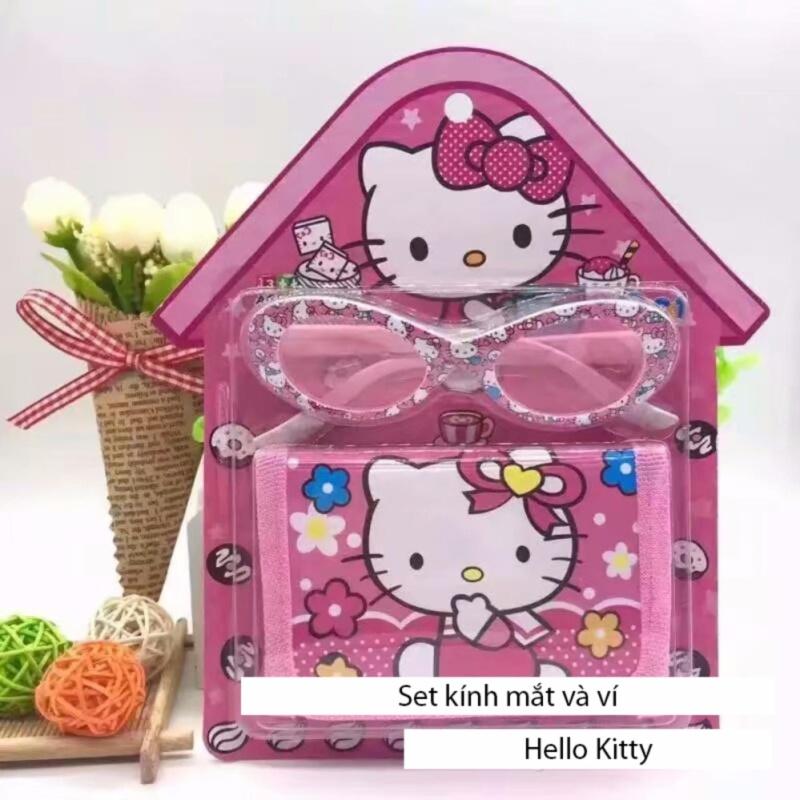 Mua Kính mát tặng kèm ví Hello Kitty dễ thương cho bé gái