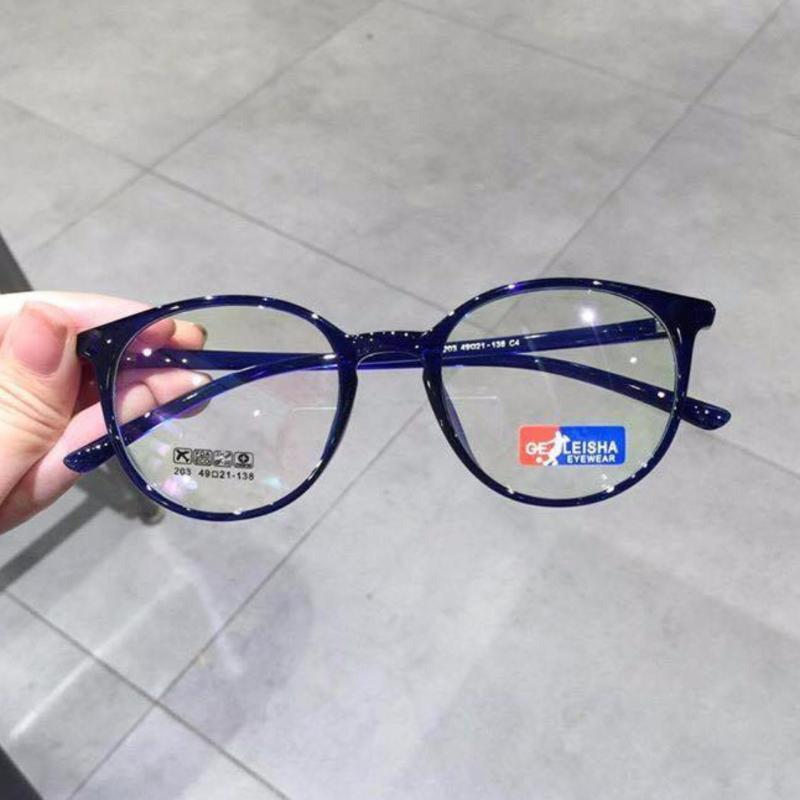 Giá bán Kính mắt tròn gọng nhựa siêu dẻo Hàn Quốc (XANH COBAN)