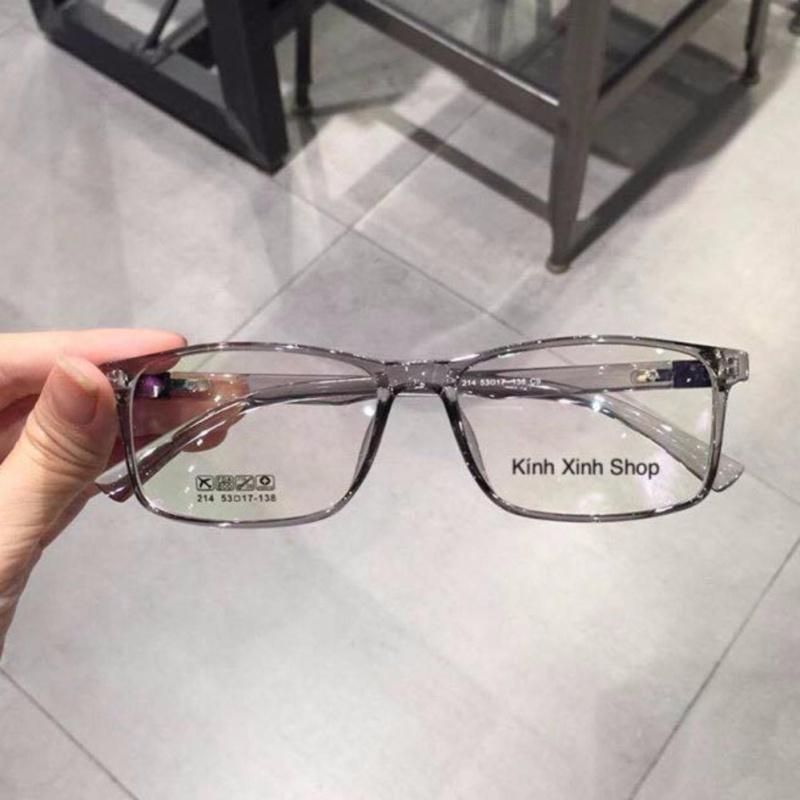 Giá bán Kính mắt vuông Gọng nhựa siêu dẻo Hàn Quốc (Xám Trong)