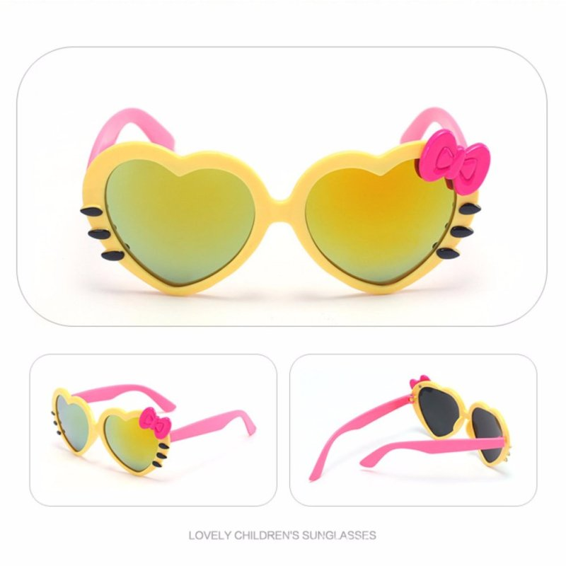 Mua Kính râm chống tia UV hình trái tim cực yêu cho bé (màu vàng)