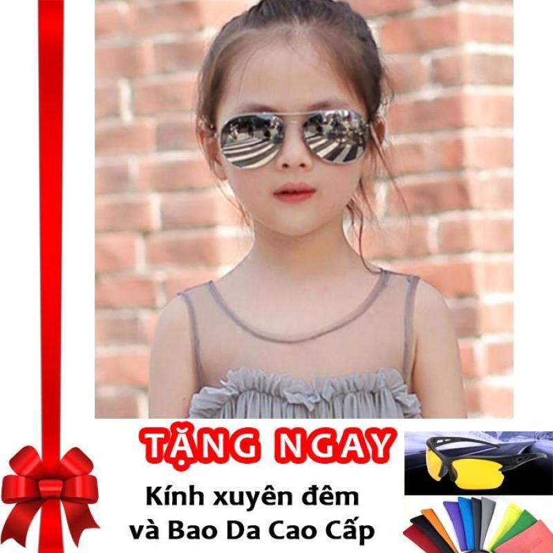 Giá bán Kính thời trang phản quang cực chống tia UV siêu đáng yêu cho bé Korea Kids 2017 F171 (Sao thủy) + Tặng kính xuyên đêm và bao da cao cấp
