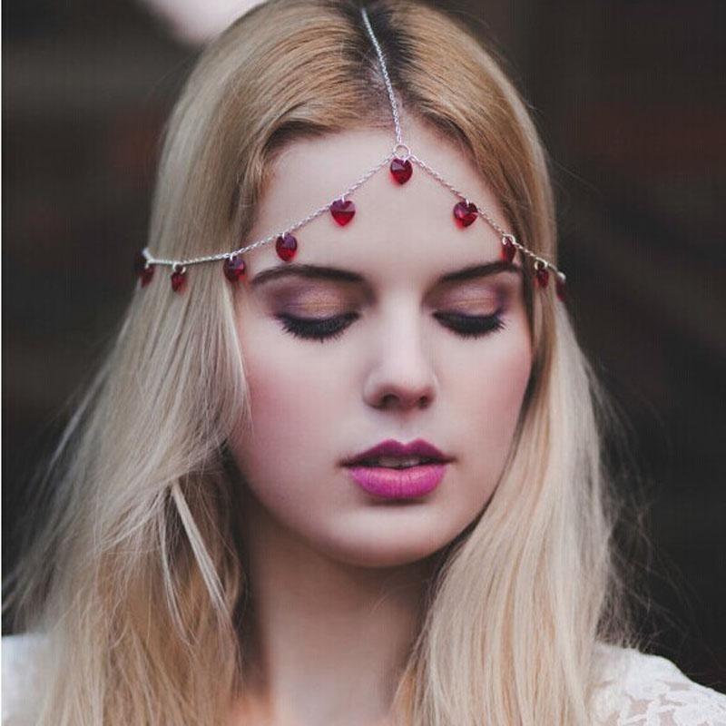 Lady Women Head Jewelry Chain Headband Hair Band Headpiece Love Tassels - intl