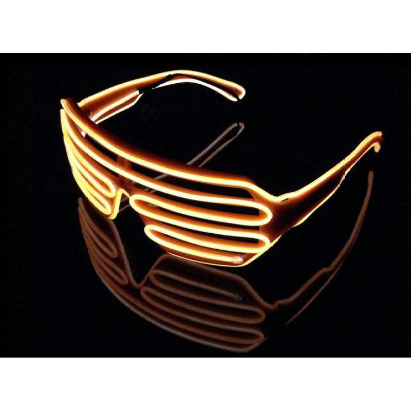 Giá bán Mắt kính Đèn Phát sáng Neon LED Glasses (Đen)