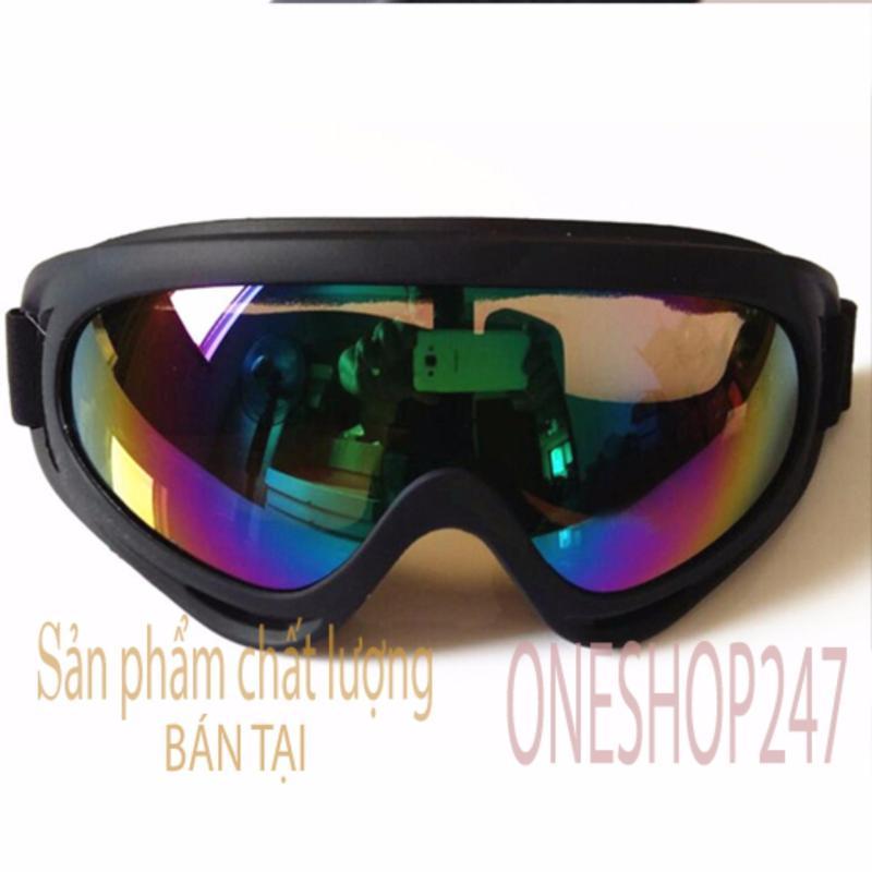 Mua Mắt kính đi phượt CHỐNG BỤI, CHỐNG TIA UV X400 ( kính tráng bạc 7 màu )