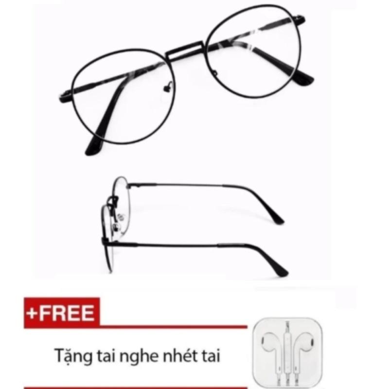 Giá bán Mắt kính ngố giả cận Nobita Hth (đen) + Tặng kèm Tai nghe nhét tai