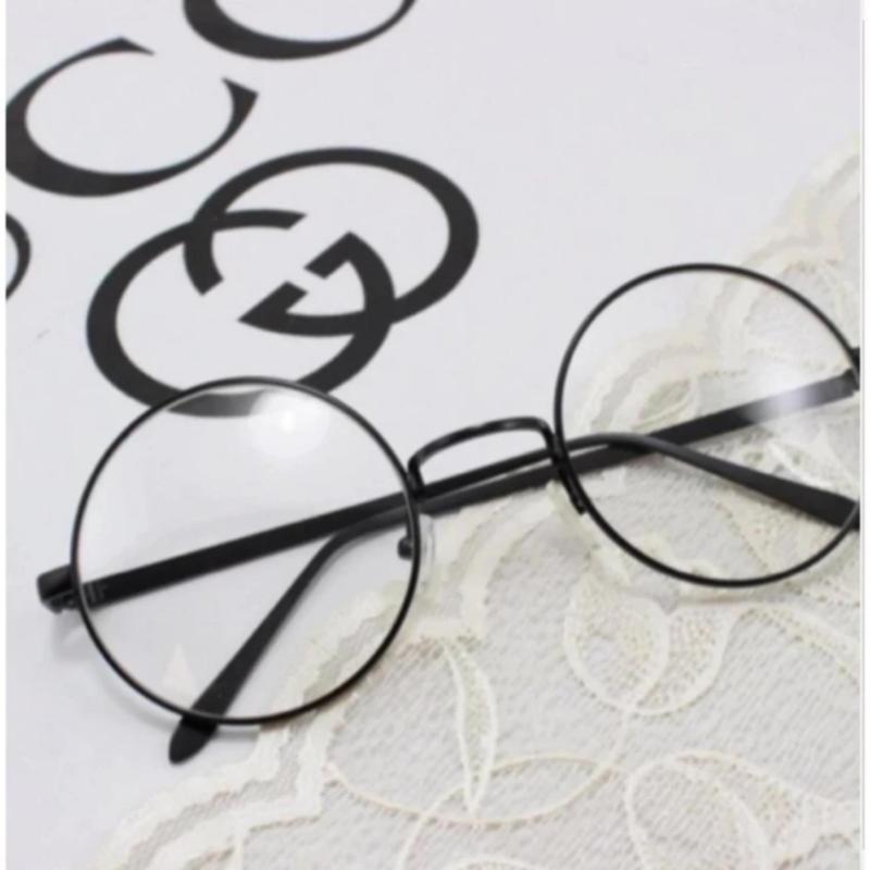 Mua mắt kính ngố gọng tròn thời trang PGH (đen )