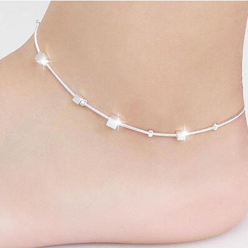 Small Box Women Chain Ankle Bracelet Barefoot Sandal Beach Foot Jewelry - intl