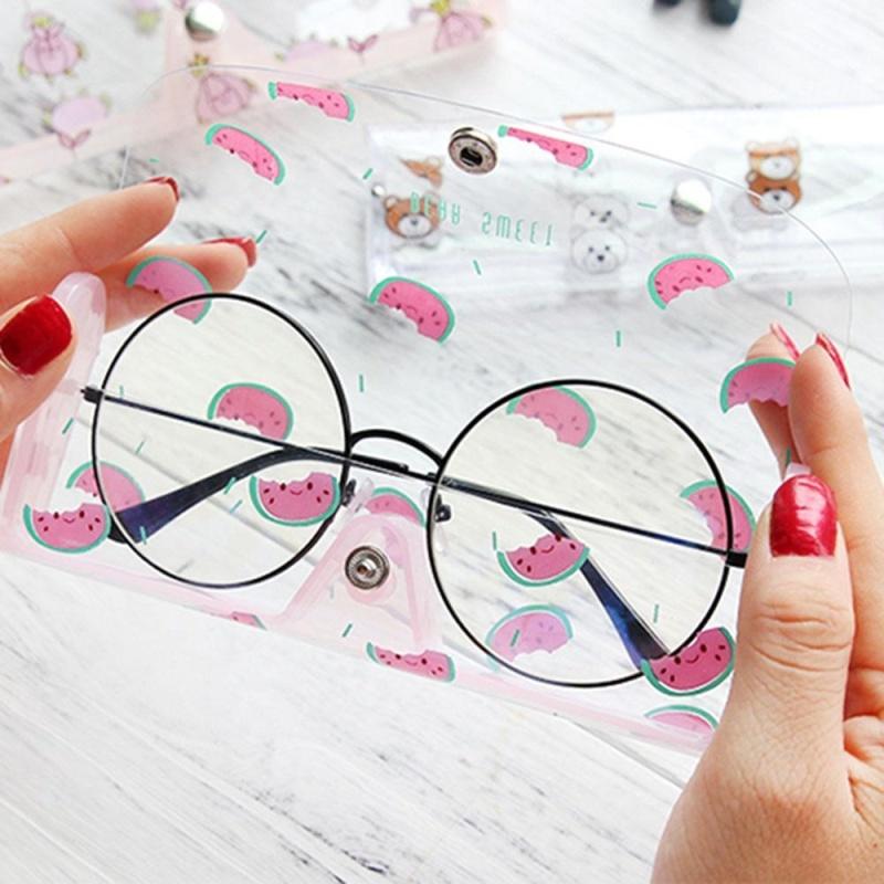 Giá bán Vanker-Cute Portable Clear Cartoon Soft Glasses Case Eyewear Protective Box (Watermelon) - intl